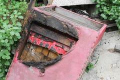 椅子被烧了 抽象细节图象爆燃 免版税库存图片