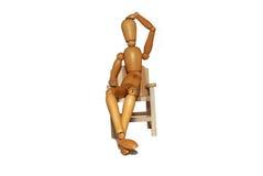 椅子认为 免版税库存图片