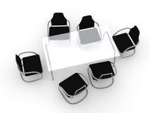 椅子设计表 库存例证