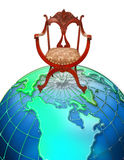 椅子顶部世界 免版税库存图片