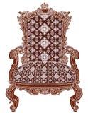 椅子-皇家老古色古香的扶手椅子 免版税库存图片