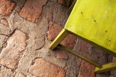椅子绿色木 库存图片