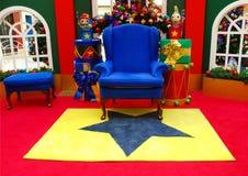 椅子s圣诞老人 库存图片
