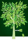 植树造林eps关键成功 库存照片
