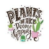 植物做人们愉快的黑色 免版税库存图片