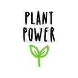 植物力量字法 向量例证