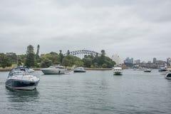 植物园、农厂小海湾和悉尼地标 免版税库存图片