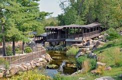 植物园在麦迪逊,威斯康辛 免版税库存照片