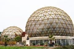 植物园温室在日博乌,罗马尼亚 库存图片