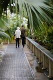 植物园的访客 免版税库存图片