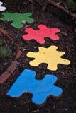 植物园meadowlark编结难题 库存照片