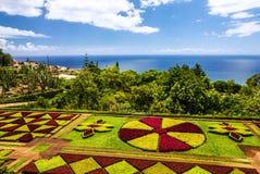 植物园Monte在马德拉岛,葡萄牙的丰沙尔 库存图片
