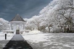 植物园pavillion 免版税库存照片