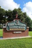植物城市铁路博物馆标志 免版税库存照片