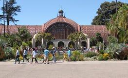 植物的大厦巴波亚公园圣地亚哥 免版税库存图片