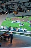植物的肖邦音乐会庭院钢琴新加坡 免版税库存照片