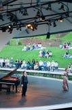 植物的肖邦音乐会庭院钢琴新加坡 图库摄影