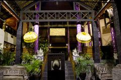 植物群旅馆的入口在库塔 库存图片