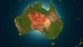植被在澳大利亚, 4K复兴动画 皇族释放例证