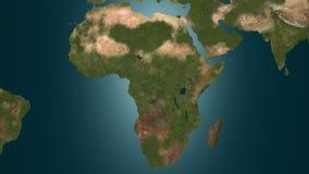 植被在非洲, 4K复兴动画 向量例证