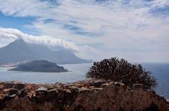 植被,海岛,海, Balos,格拉姆武萨群岛,克利特希腊 库存照片