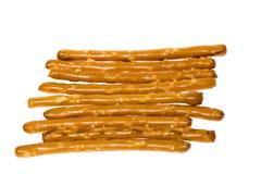 椒盐脆饼盐味的棍子 免版税图库摄影