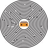 椭圆房子迷宫 免版税库存照片
