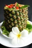 椰奶咖喱菠萝 库存图片