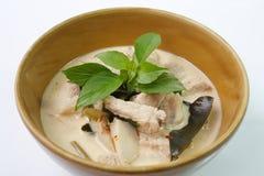 椰奶汤用猪肉,泰国食物 免版税图库摄影