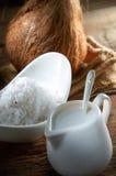 椰奶 免版税库存照片