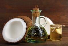 椰子下落例证油传统化了 免版税图库摄影