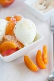 椰子冰淇凌 库存图片