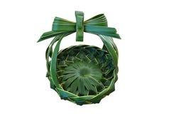 椰子叶子篮子 库存照片