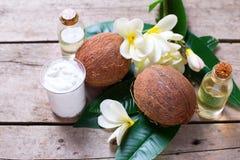 椰子和椰子产品 免版税库存图片