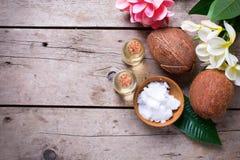 椰子和椰子油 免版税库存图片