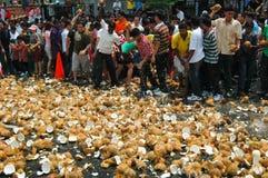 椰子当事人抽杀 免版税库存图片