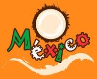 椰子徽标墨西哥 免版税库存照片