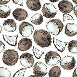 椰子无缝的样式 向量例证