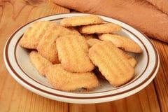 椰子曲奇饼点心做泰国传统 免版税图库摄影