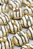 椰子曲奇饼点心做泰国传统 免版税库存照片