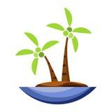 椰子树象动画片 免版税库存图片