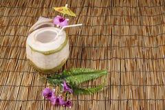 椰子汁 免版税库存照片