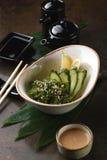 椰子汤用海鲜 免版税图库摄影