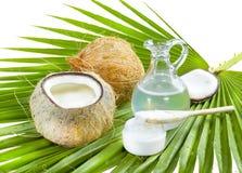 椰子油。 免版税库存照片