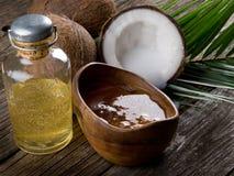 椰子油核桃 免版税库存图片