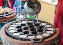 椰子米薄煎饼 库存图片