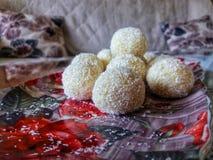 椰子糖果 免版税库存图片