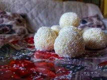 椰子糖果 免版税库存照片
