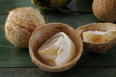 椰子肉 库存图片