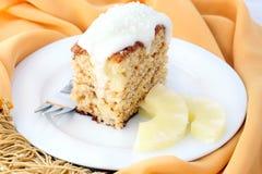 椰子菠萝蛋糕 免版税库存照片